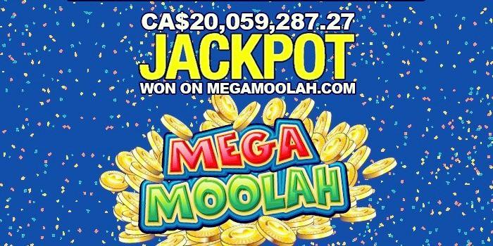 20 million Canadian dollar jackpot on Mega Moolah